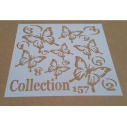 Pochoir papillons - 15x15 cm