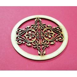 Embellissement décoratif en bois de forme ronde 5