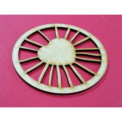 Embellissement décoratif en bois de forme ronde 13
