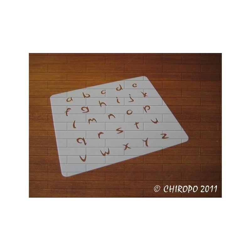 Pochoir alphabet - Arabo minuscule - 1cm (0213)
