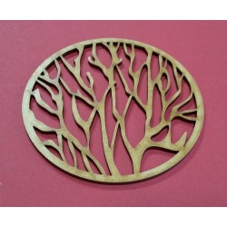 Embellissement décoratif en bois de forme ronde