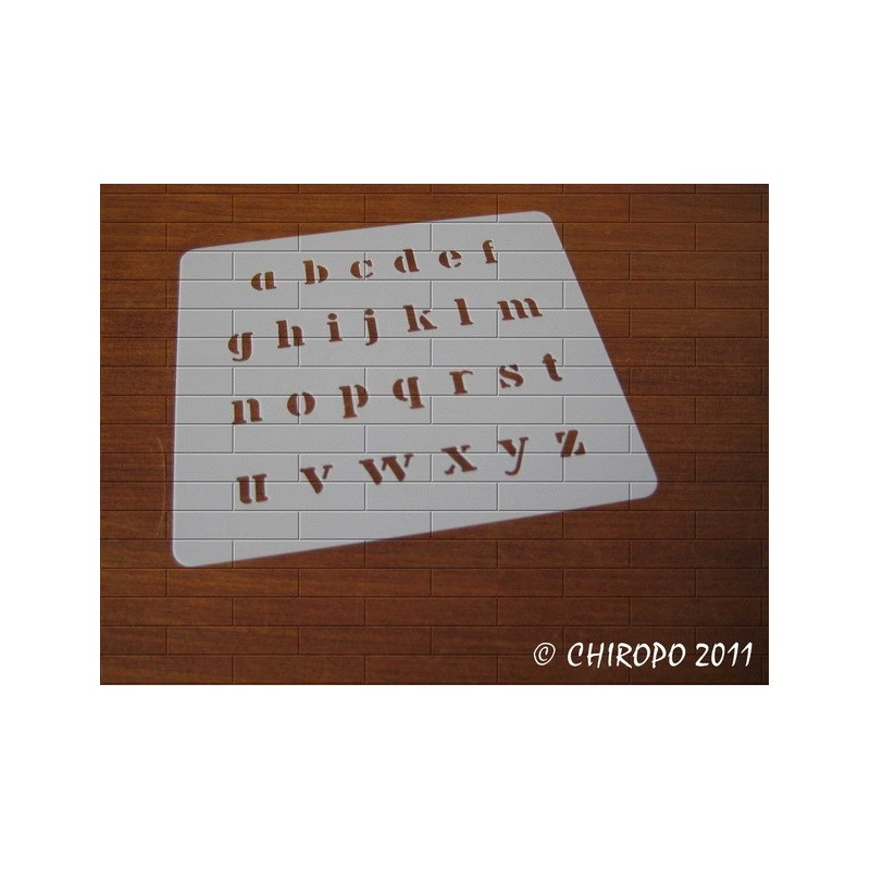 Pochoir alphabet - Billie minuscule - 1cm (0639)