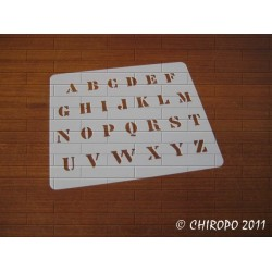 Pochoir alphabet - Billie majuscule - 1cm (0640)