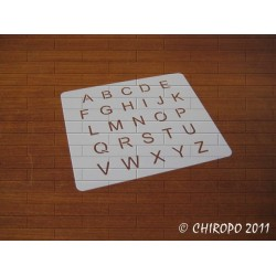 Pochoir alphabet - Arial majuscule - 1cm (0647)