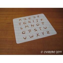 Pochoir alphabet 1 cm - Arabo majuscule