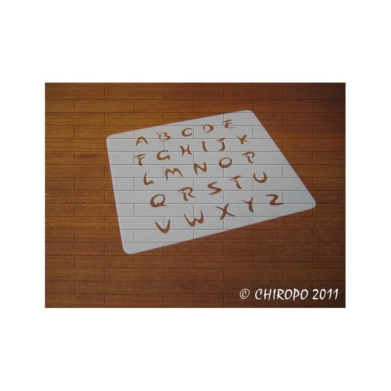 Pochoir alphabet - Arabo majuscule - 1cm (0216)