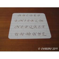Pochoir alphabet - Courbes majuscule - 1,5cm (0645)