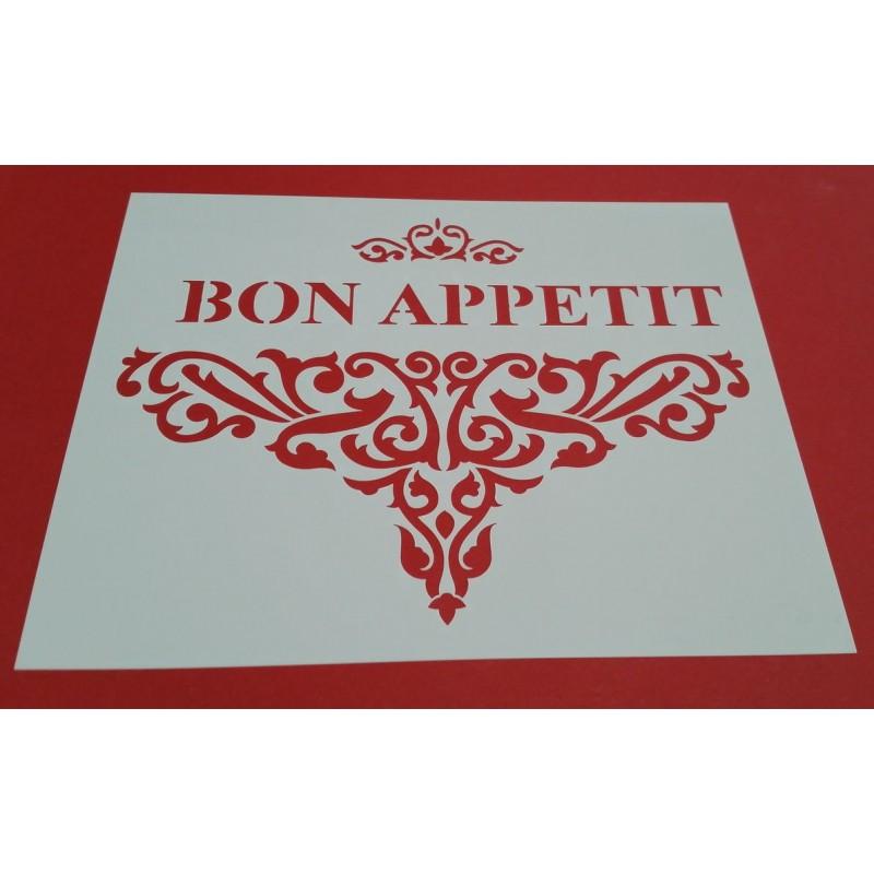 Pochoir deco baroque bon apetit