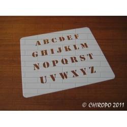 Pochoir alphabet - Loft majuscule - 1cm (0232)