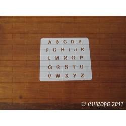 Pochoir alphabet - Stencilia majuscule - 1cm (0228)