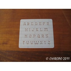 Pochoir alphabet - Wasabi majuscule - 1cm (0222)