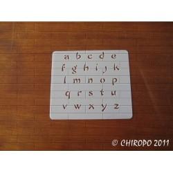 Pochoir alphabet - Chowfun minuscule - 1cm (0237)