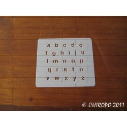 Pochoir alphabet - Stencilia minuscule - 1cm (0230)