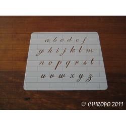 Pochoir alphabet - Script minuscule - 1cm (0633)