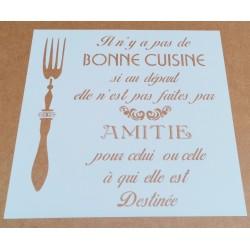Pochoir Déco Texte Cuisine...
