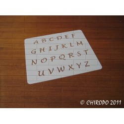 Pochoir alphabet 1 cm - Lucida majuscule