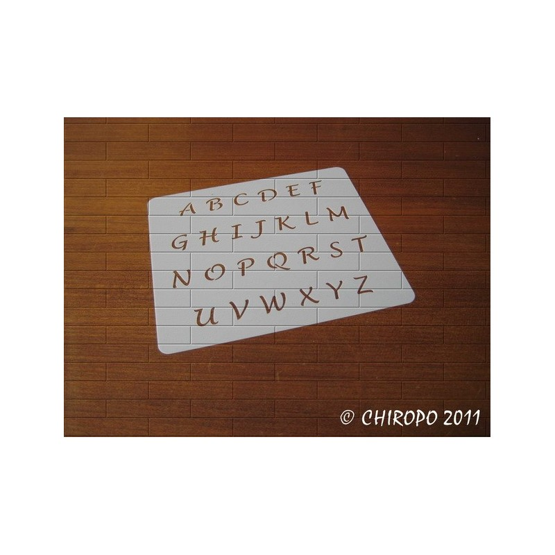 Pochoir alphabet - Lucida majuscule - 1cm (0384)