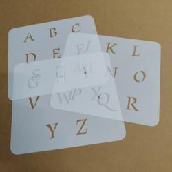 Pochoir Alphabet 4cm -...