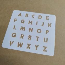 Pochoir Alphabet 1cm - IBCM...