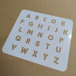 Pochoir Alphabet 2cm - IBCM...