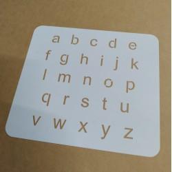 Pochoir Alphabet 2cm -...