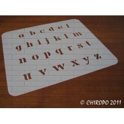Pochoir alphabet - Billie minuscule - 2cm (0639)