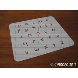 Pochoir alphabet - Arabo minuscule - 2cm (0213)