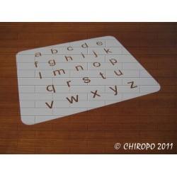 Pochoir alphabet 2 cm - Arial minuscule