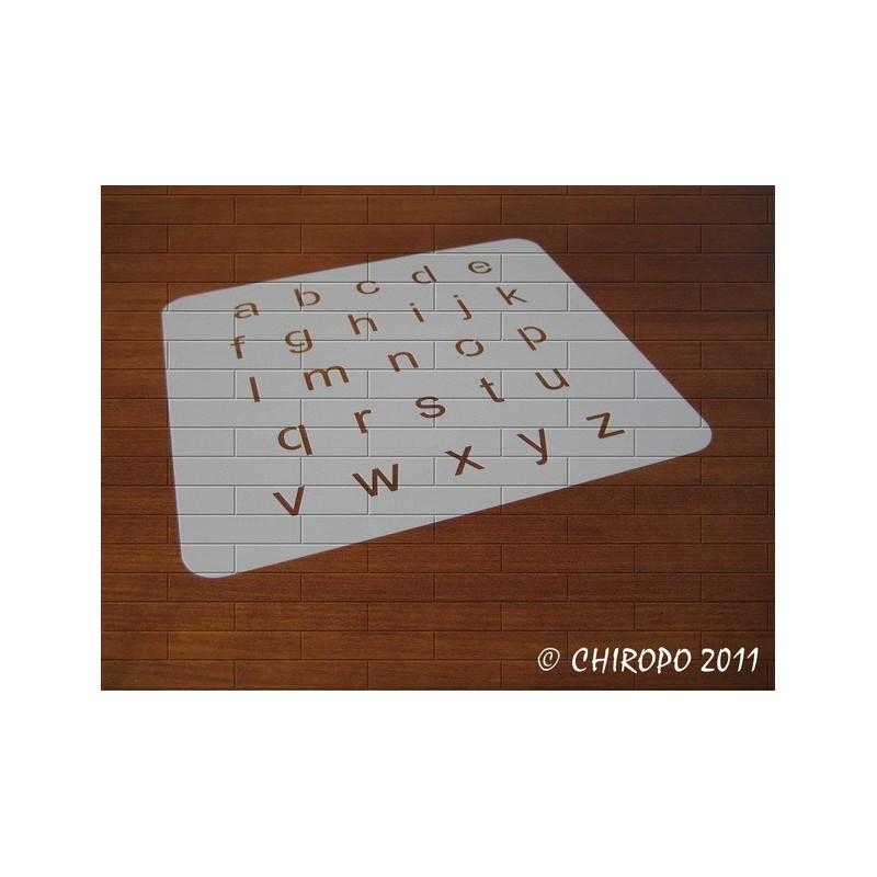 Pochoir alphabet - Arial minuscule - 2cm (0646)