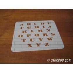 Pochoir alphabet 2 cm - Army majuscule