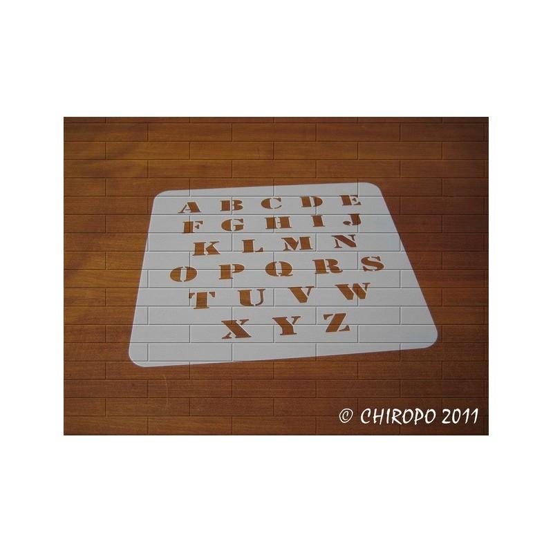Pochoir alphabet - Army majuscule - 2cm (0219)