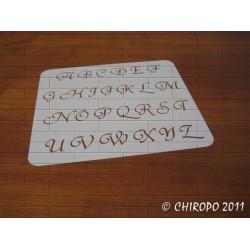 Pochoir alphabet - Courbes majuscule - 2cm (0645)