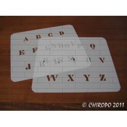 Pochoir alphabet - Billie majuscule - 2cm (0640)