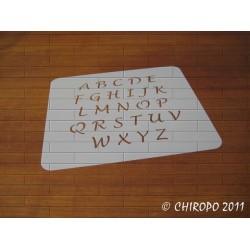 Pochoir alphabet - Lucida majuscule - 2cm (0384)