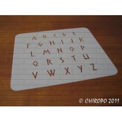 Pochoir alphabet - Satyr majuscule - 2cm (0225)