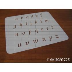 Pochoir alphabet - Courbes minuscule - 2cm (0644)