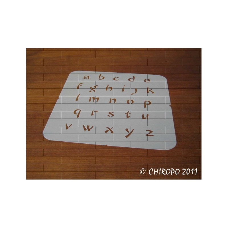 Pochoir alphabet - ChowFun minuscule - 2cm (0237)