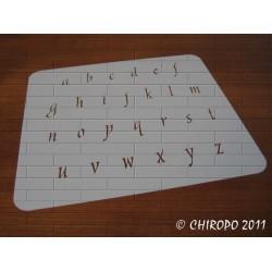 Pochoir alphabet - Style minuscule - 2cm (0642)