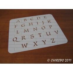 Pochoir alphabet - Style majuscule - 2cm (0643)