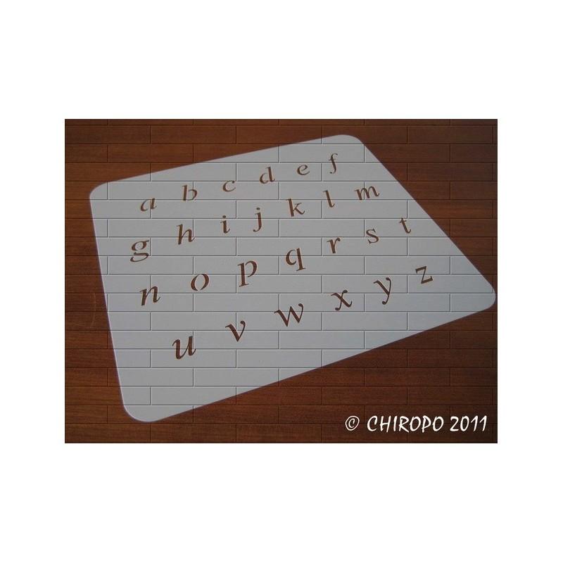 Pochoir alphabet - Times Italic minuscule - 2cm (0637)
