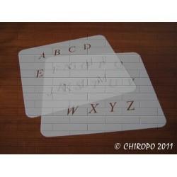 Lot de 2 Pochoirs alphabet 2 cm - Times Italic majuscule
