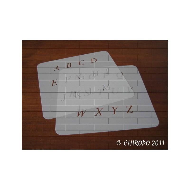Pochoir alphabet - Times Italic majuscule - 2cm (0638)