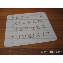 Pochoir alphabet 2 cm - Wasabi majuscule