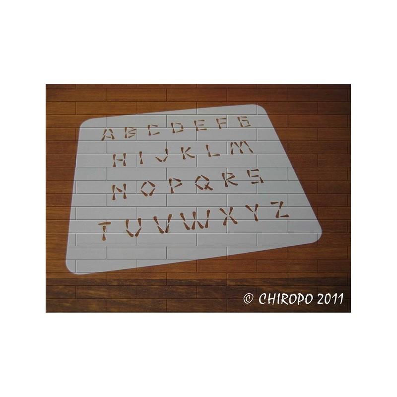 Pochoir alphabet - Wasabi majuscule - 2cm (0222)