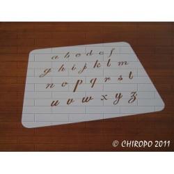 Pochoir alphabet 2 cm - Script minuscule