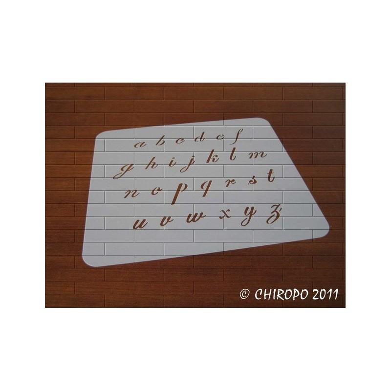 Pochoir alphabet - Script minuscule - 2cm (0633)