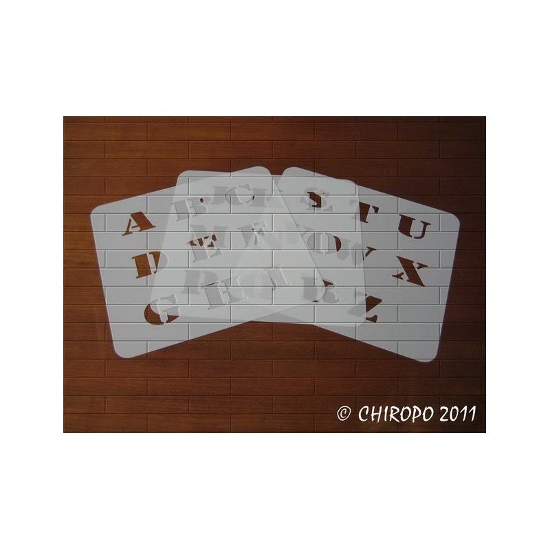 Pochoir alphabet - Army majuscule - 3cm (0219)