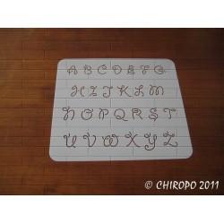 Pochoir alphabet - Giddy majuscule - 2cm (0666)