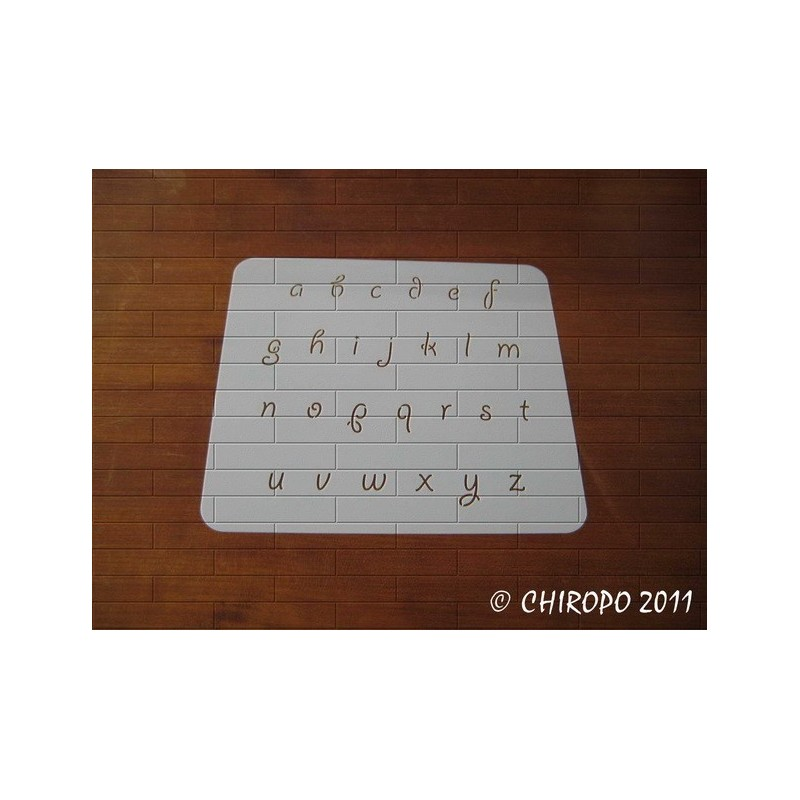 Pochoir alphabet - Giddy minuscule - 2cm (0667)