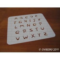 Pochoir alphabet 2cm - Arabo majuscule